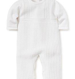 Kissy Kissy Jordan Knit Playsuit White