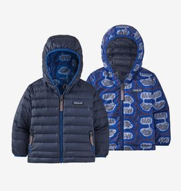 Patagonia Reversible Down Hoody Superior Blue 6/12M-5T
