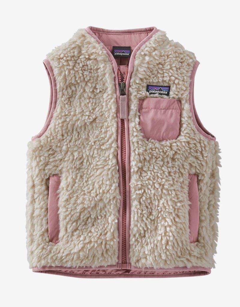Patagonia Retro-X Vest Natural w/Artifact Pink 2T-4T