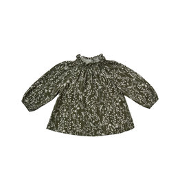 Rylee & Cru Vines Audrey Blouse Forest 6/12M-10/12