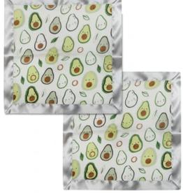 Loulou Lollipop Avocado Security Blanket 2 pk