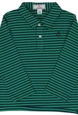 Classic Prep Henry L/S Polo Bright Navy/Green Stripe
