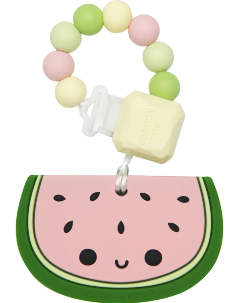 Loulou Lollipop Watermelon Silicone Teether Set