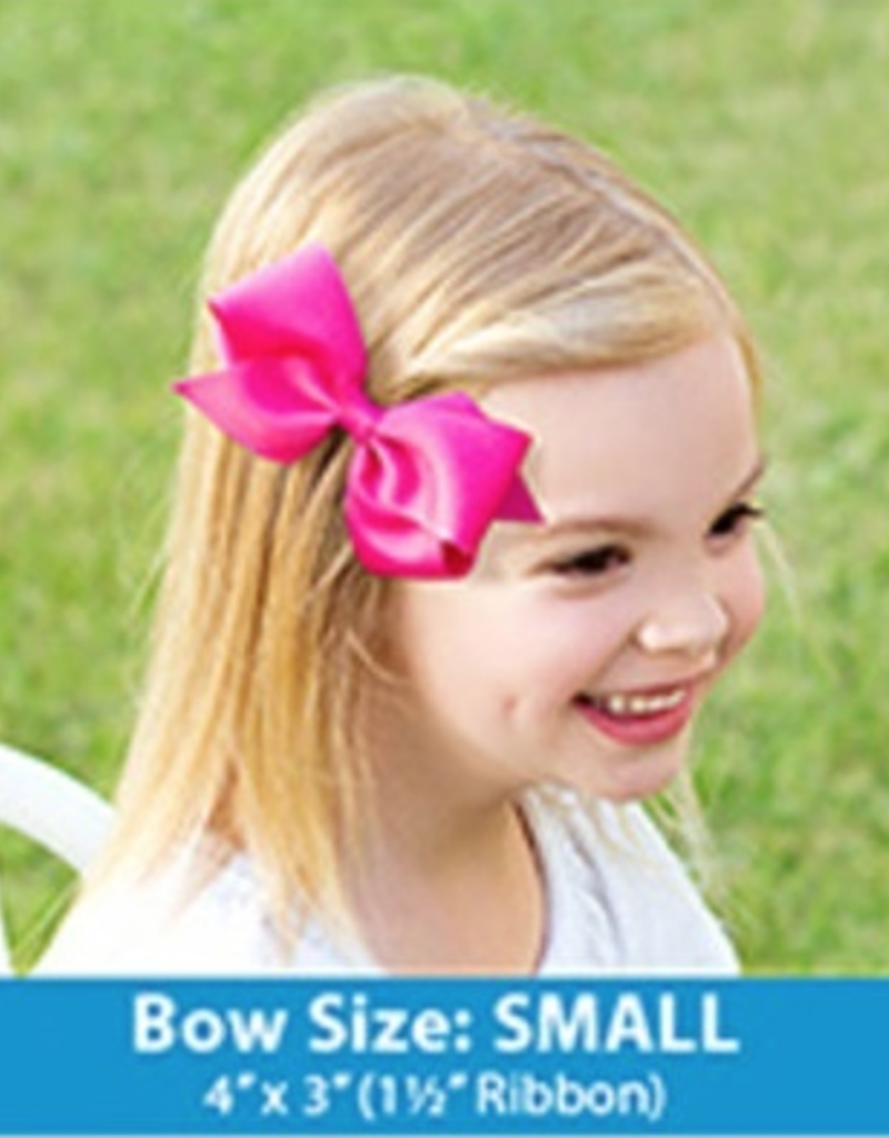 Wee Ones Small Grosgrain Bow White