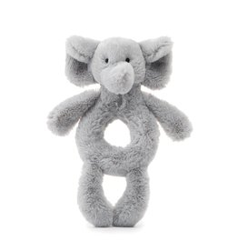 Jellycat Bashful Grey Elephant Ring Rattle