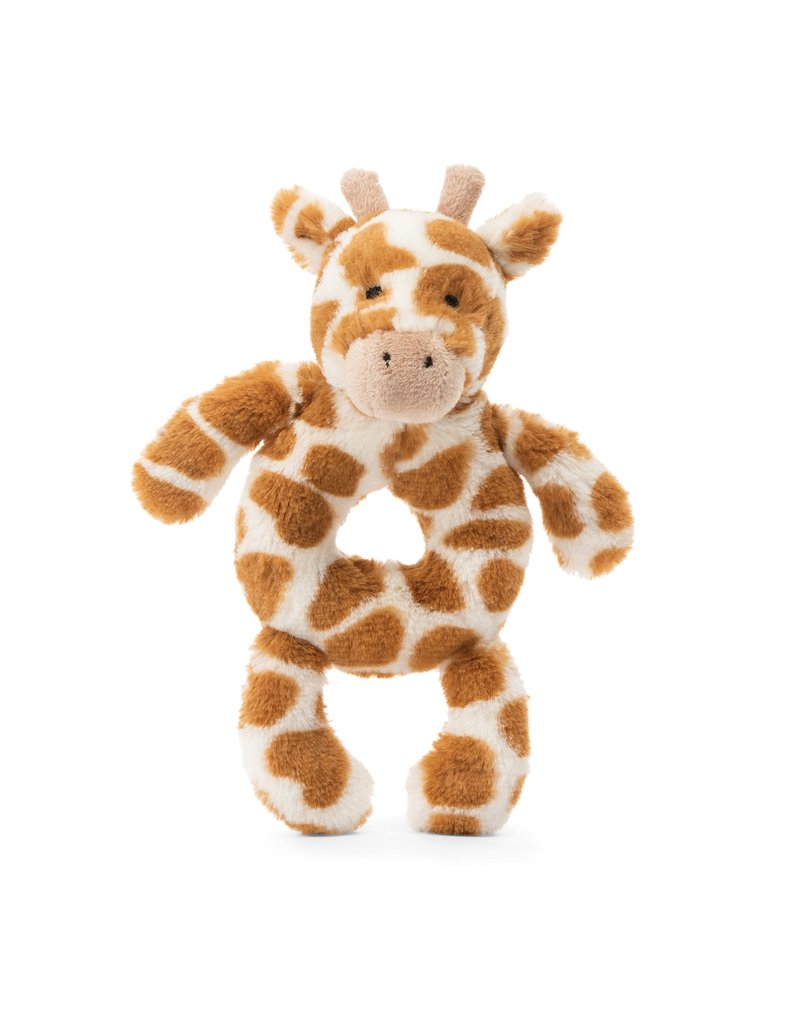 Jellycat Bashful Giraffe Ring Rattle