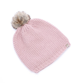 Peppercorn Kids Knit Faux Fur Pompom Beanie L(4/6yr), XL(6/12yr)