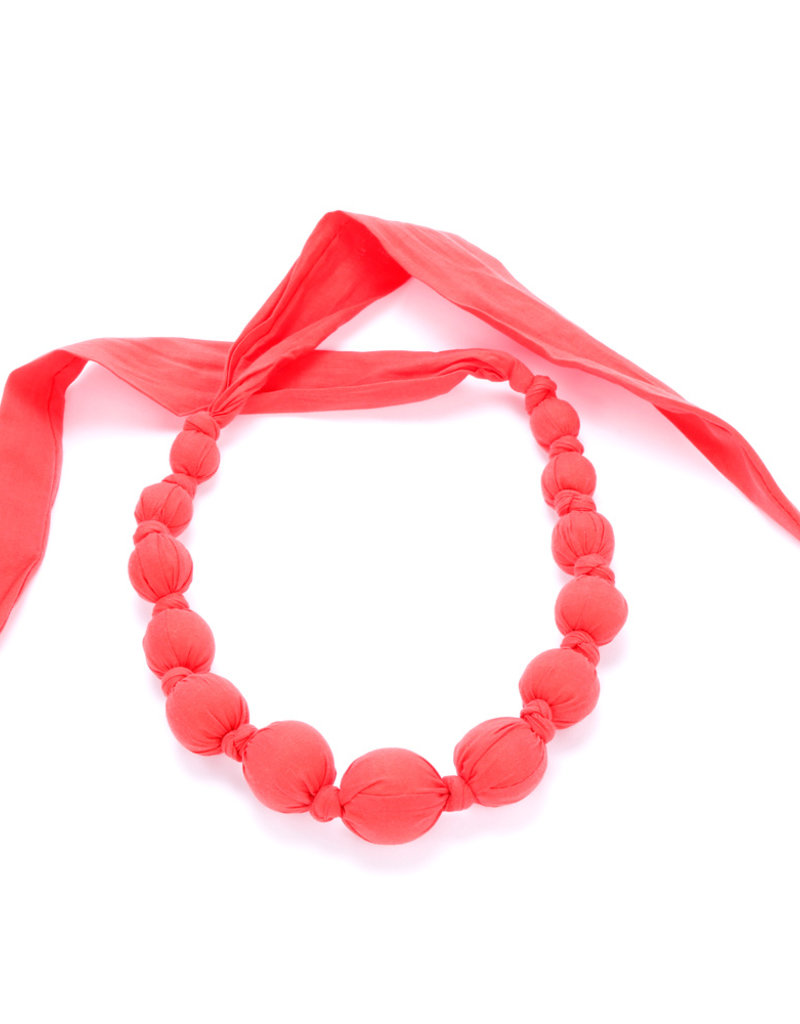 Peppercorn Kids Rainbow Solid Red Necklace
