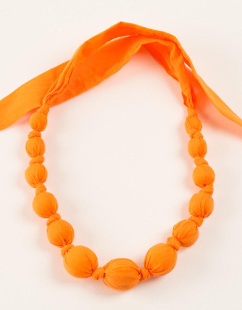 Peppercorn Kids Rainbow Solid Orange Necklace