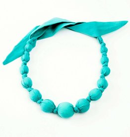 Peppercorn Kids Solid Aqua Necklace