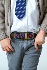 Peppercorn Kids Boys Zig Zag Stretch Cord Belt Orange/Navy