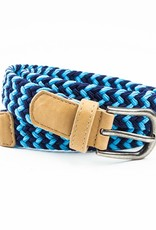 Peppercorn Kids Boys Zig Zag Stretch Cord Belt Blue/Navy