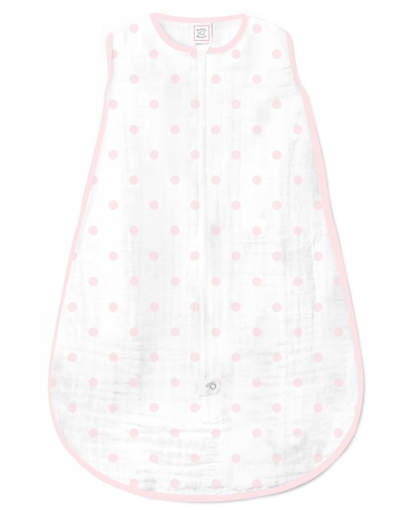 SwaddleDesigns Muslin zzZipMe Sack Dots 6/12M