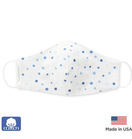 SwaddleDesigns 2 Layer Cotton Kids Mask Playful Dots
