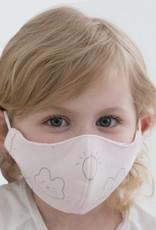 SwaddleDesigns 2 Layer Cotton Kids Mask Bunnie