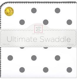 SwaddleDesigns Ultimate Swaddle Soft Black Big Dots