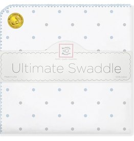 SwaddleDesigns Ultimate Swaddle Sterling Little Dots Pastel Blue