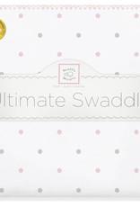SwaddleDesigns Ultimate Swaddle Sterling Little Dots Pastel Pink