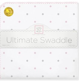 SwaddleDesigns Ultimate Swaddle Sterling Little Dots Pastel Pink