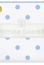 SwaddleDesigns Ultimate Swaddle Big Dots Blue