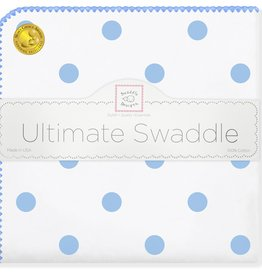 SwaddleDesigns Ultimate Swaddle Big Dots Blue