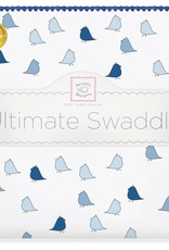 SwaddleDesigns Ultimate Swaddle Little Chickies True Blue