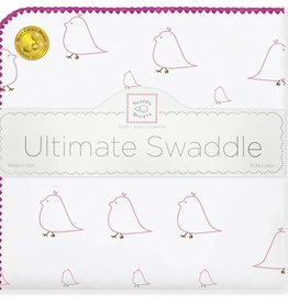 SwaddleDesigns Ultimate Swaddle Mama Baby Chickies Pink