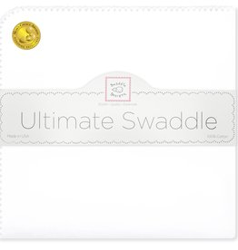 SwaddleDesigns Ultimate Swaddle White/Pastel Trim