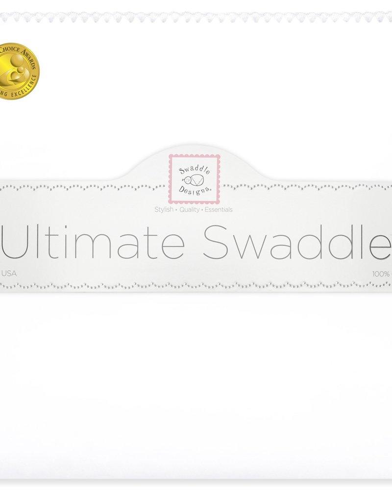 SwaddleDesigns Ultimate Swaddle White/Pastel Trim