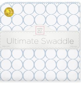 SwaddleDesigns Ultimate Swaddle Mod Circles Pastel Blue w/Blue Trim