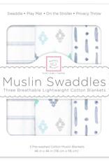 SwaddleDesigns Muslin Swaddle Indigo Denim Set 3