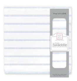 SwaddleDesigns Muslin Swaddle Watercolor Quad Stripes