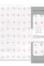 SwaddleDesigns Muslin Swaddle Posies Pastel Pink