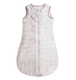 SwaddleDesigns Cozy zzZipMe Sack Puff Circle Pastel Pink 0/6M. 6/12M