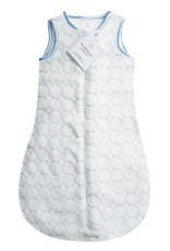 SwaddleDesigns Cozy zzZipMe Sack Pastel Puff Circle Blue