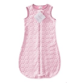SwaddleDesigns Cozy zzZipMe Sack Puff Circle Pink 3/6M