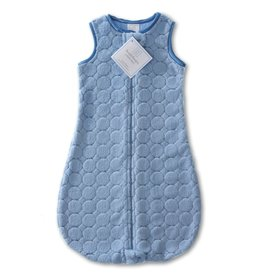 SwaddleDesigns Cozy zzZipMe Sack Puff Circle Blue 3/6M, 6/12M