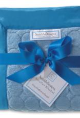 SwaddleDesigns Stroller Blanket Puff Circles Blue