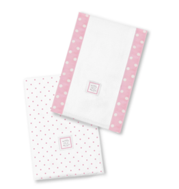 SwaddleDesigns Baby Burpies Polka Dots Pink