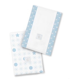 SwaddleDesigns Baby Burpies Jax Stars Pastel Blue