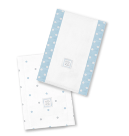 SwaddleDesigns Baby Burpies Dottie Stars Pastel Blue