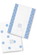 SwaddleDesigns Baby Burpies Big Dots Blue