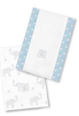 SwaddleDesigns Baby Burpies Elephant Chickies Pastel Blue