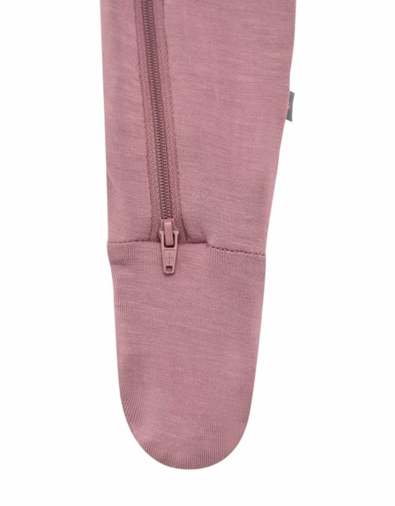 Kyte Baby Zippered Footie Mulberry