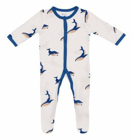 Kyte Baby Printed Footie Whale