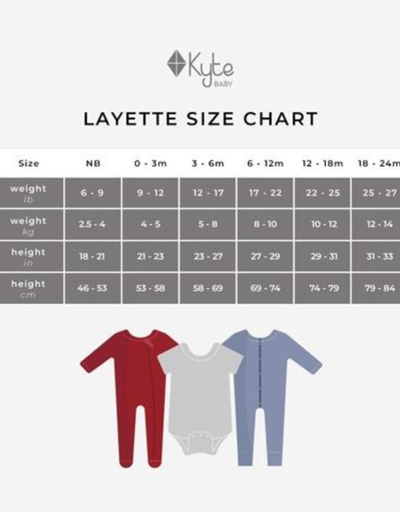 Kyte Baby Zippered Footie Mulberry 3/6M-12/18M