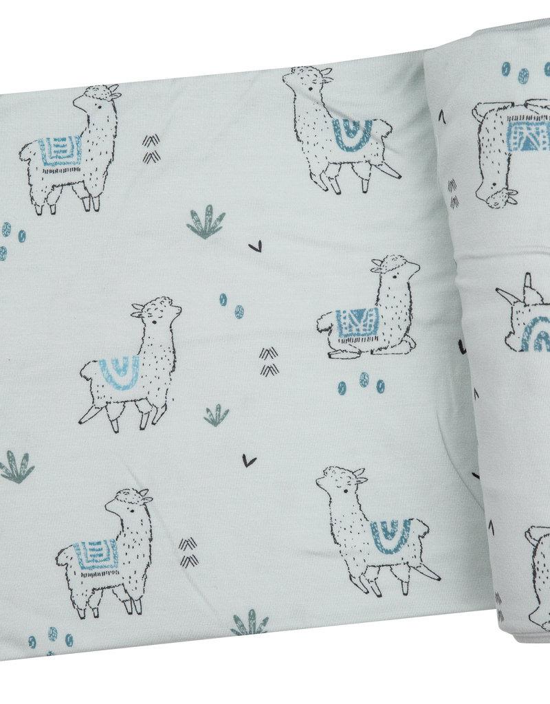 Angel Dear Swaddle Blanket Blue Llama