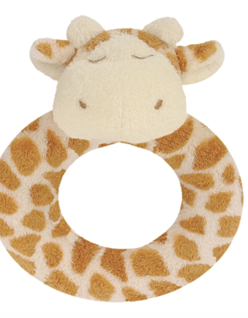 Angel Dear Ring Rattle Giraffe Tan