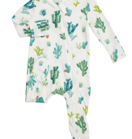 Angel Dear Cactus Zipper Footie Ivory NB-9/12M