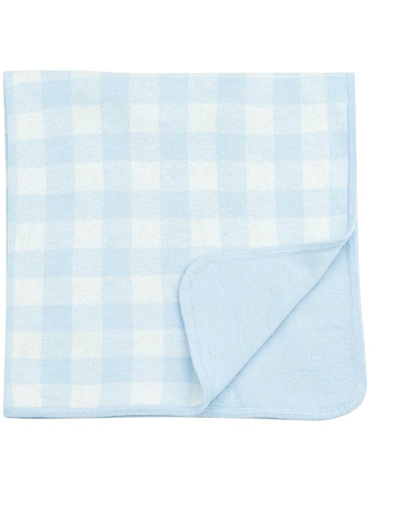 Angel Dear Gingham Blanket Blue